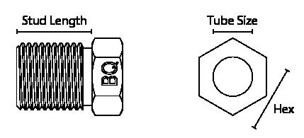 male tube nut diagram